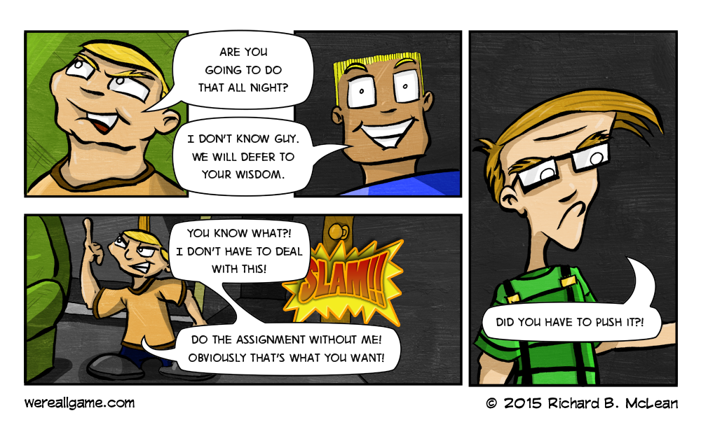Richard B McLean We're All Game Comic 39
